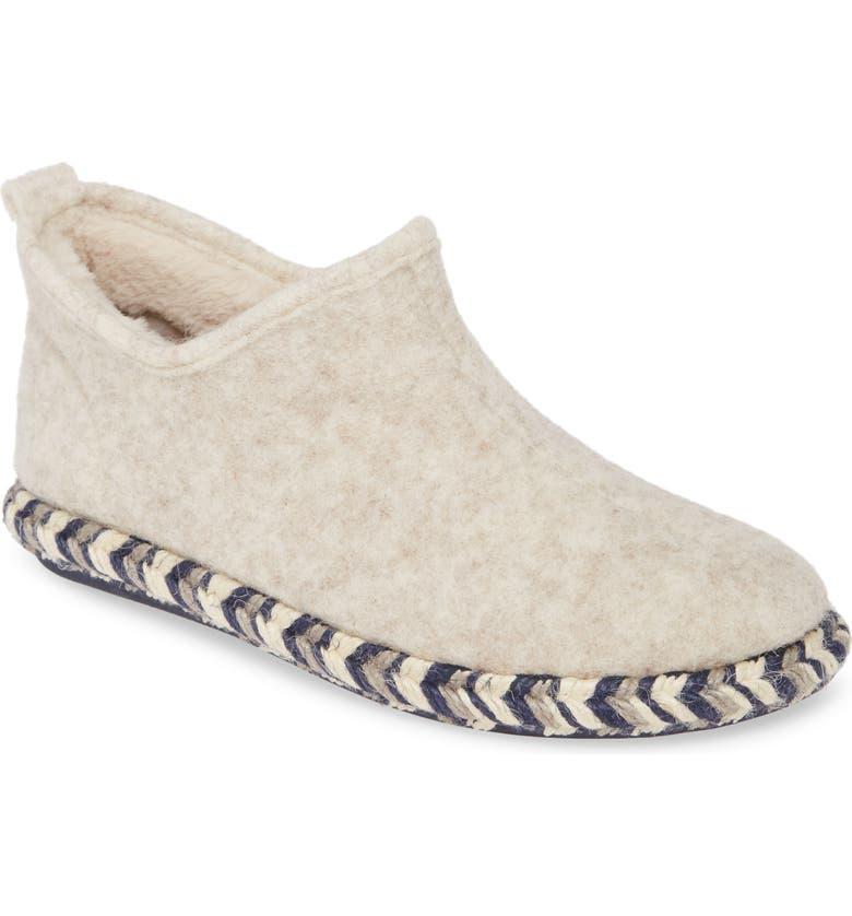 TONI PONS Maia Faux Fur Lined Scuff Slipper, Main, color, ECRU WOOL
