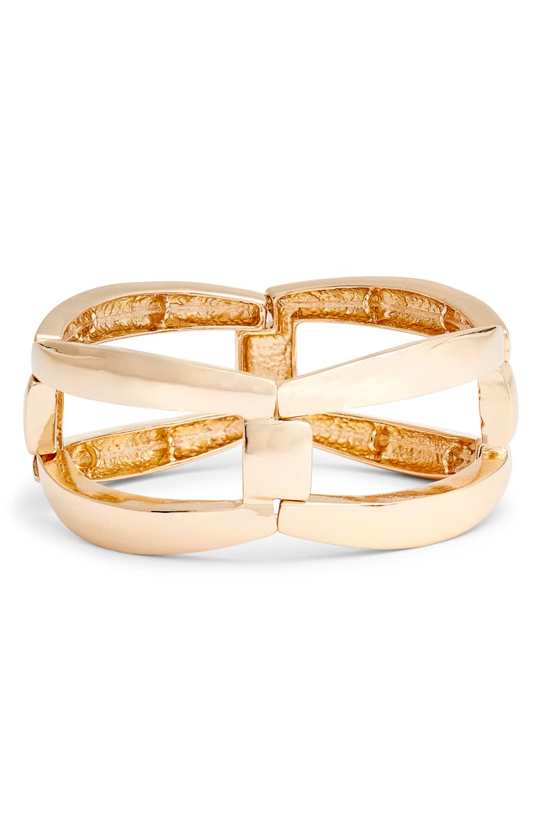 HALOGEN<SUP>®</SUP> Jumbo Stretch Link Bracelet, Main, color, GOLD