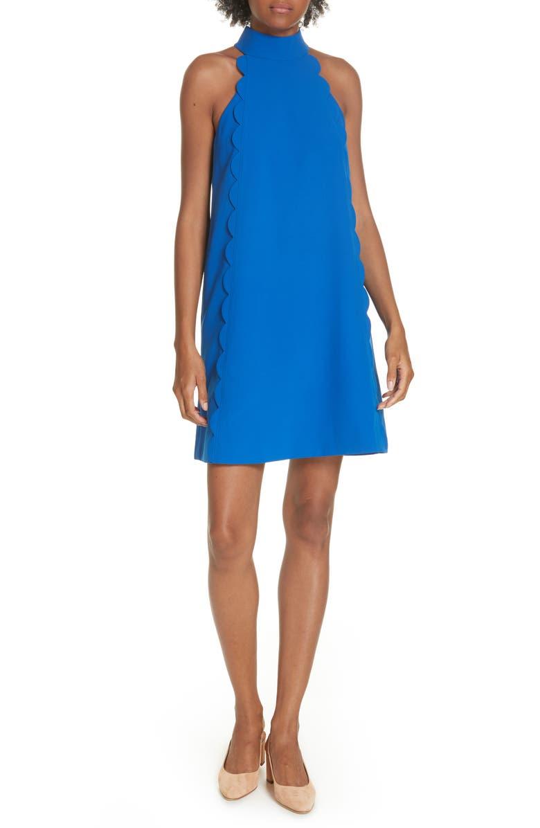 TED BAKER LONDON Torrii High Neck Tunic Dress, Main, color, MID BLUE