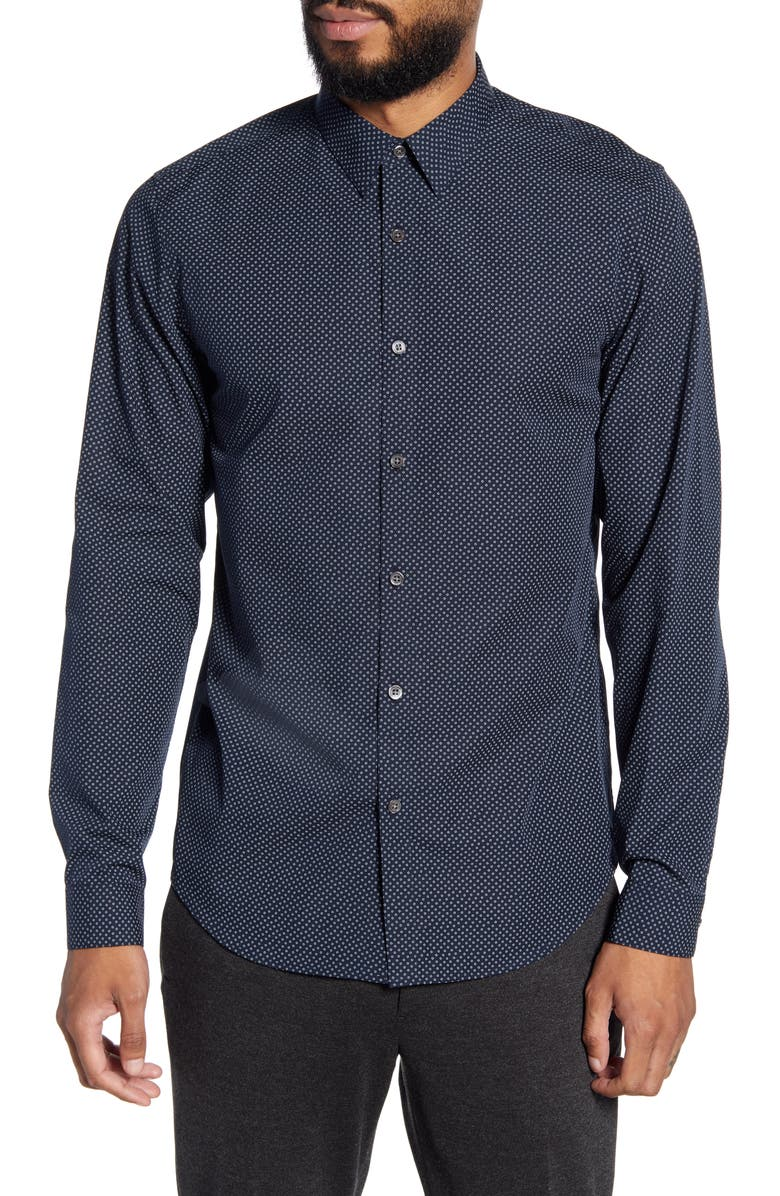 THEORY Irving Hyde Slim Fit Print Button-Up Shirt, Main, color, ECLIPSE MULTI