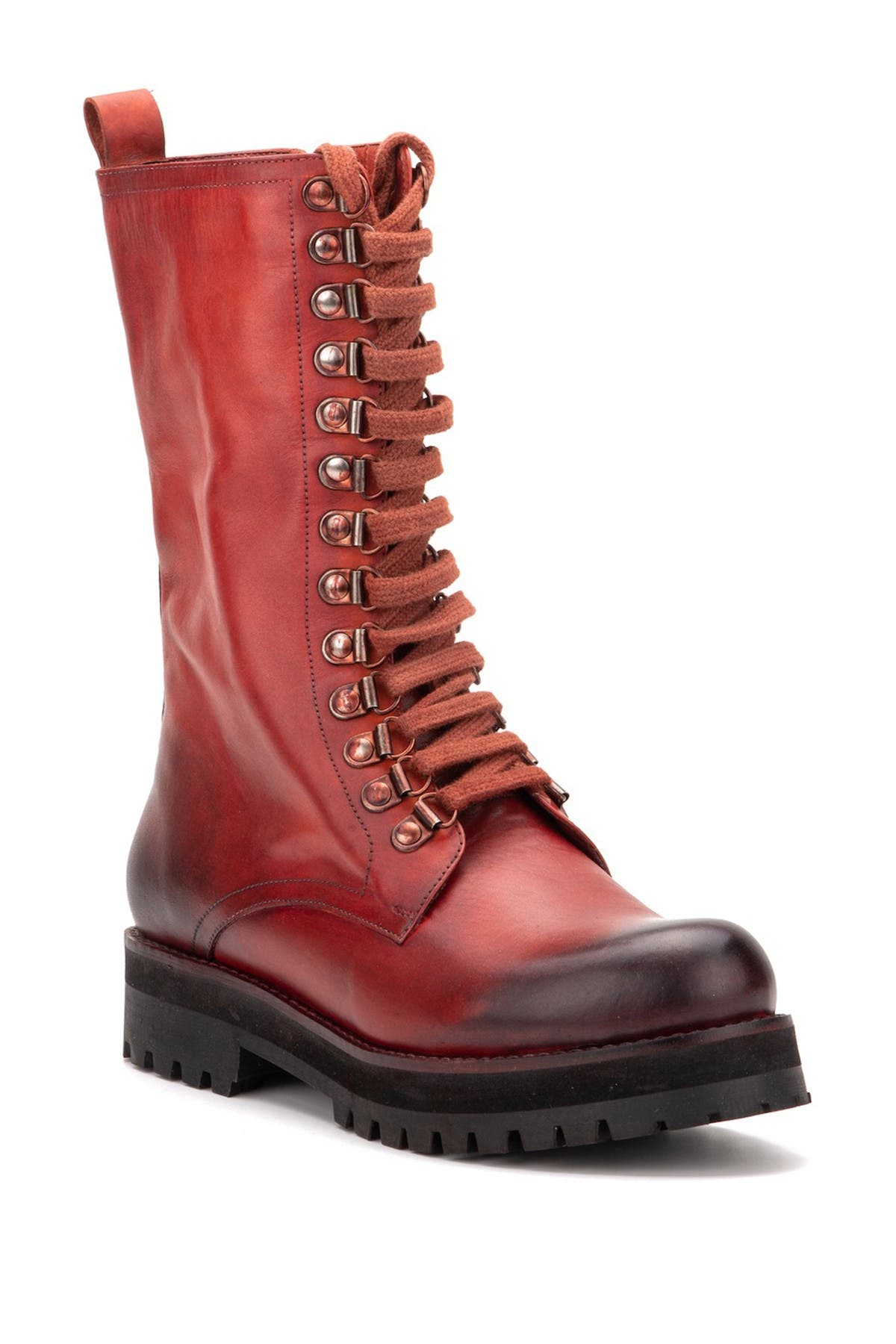 Image of Vintage Foundry Cherry Tall Leather Lace-Up Boot