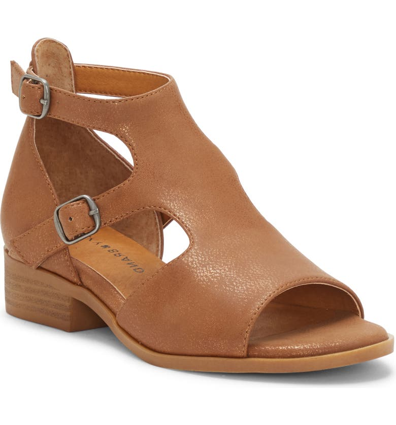 LUCKY BRAND Cutout Sandal, Main, color, WALNUT