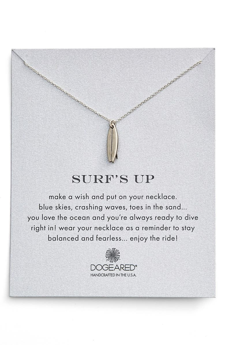 'reminder   Surf's Up' Surfboard Pendant Necklace by Dogeared