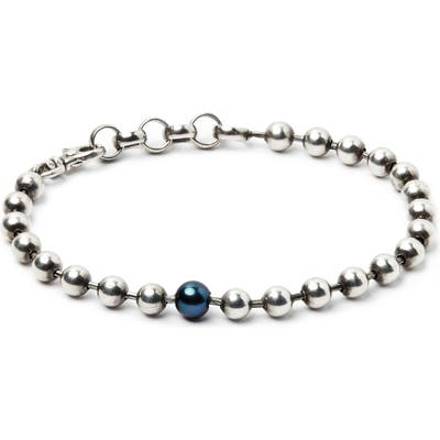 Title Of Work Silver Ball Chain Bracelet