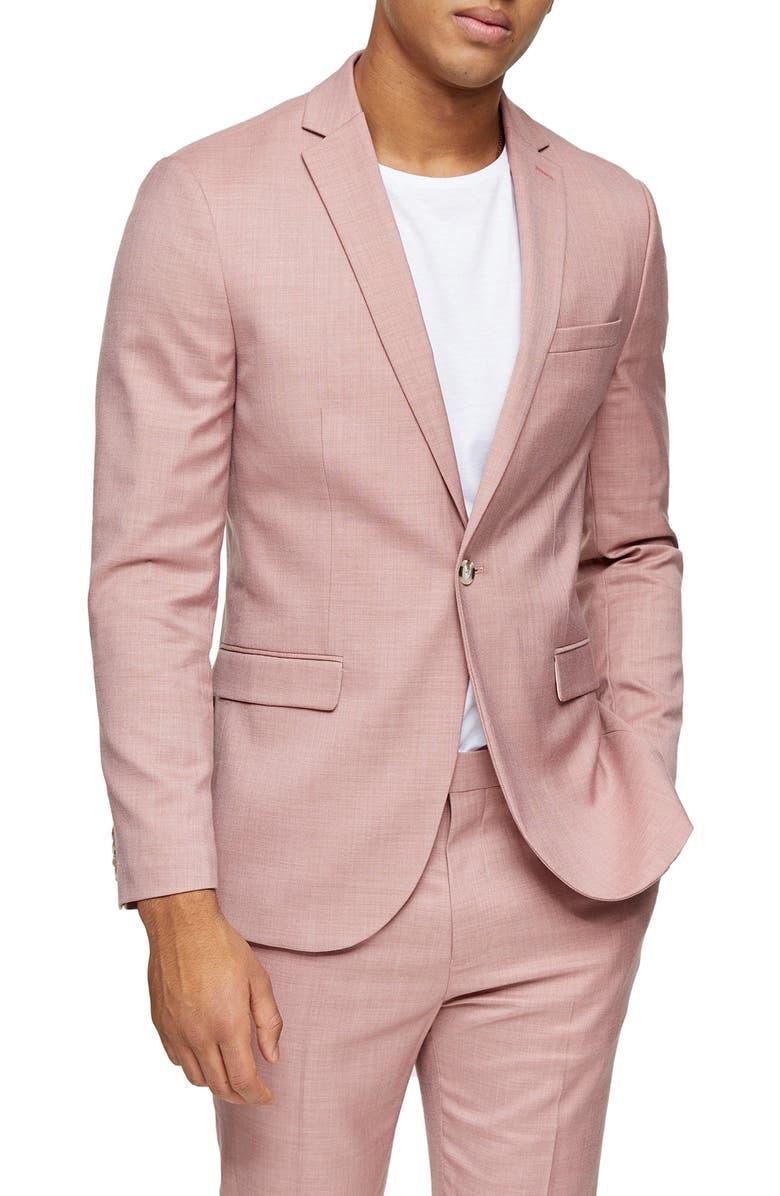 TOPMAN Dax Slim Fit Suit Jacket, Main, color, 650