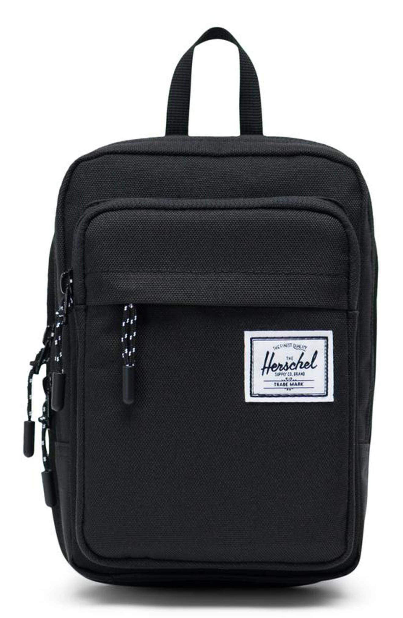 Large Form Shoulder Bag, Main, color, BLACK