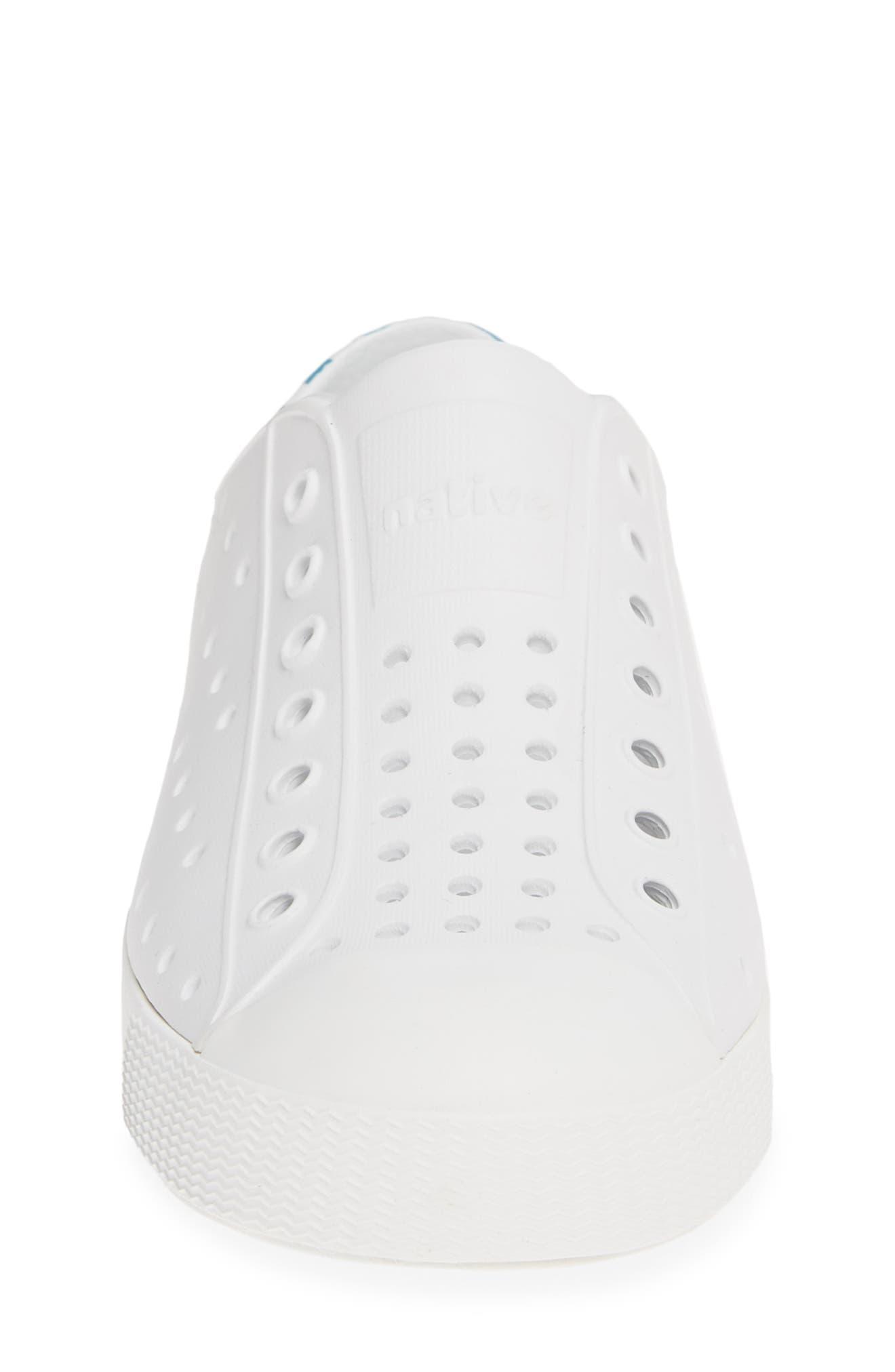 ,                             'Jefferson' Water Friendly Slip-On Sneaker,                             Alternate thumbnail 4, color,                             WHITE/ WHITE/ ULTRA GLOW BLOCK