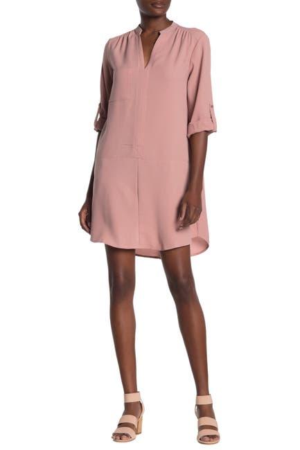 Image of Lush Novak 3/4 Sleeve Shift Dress