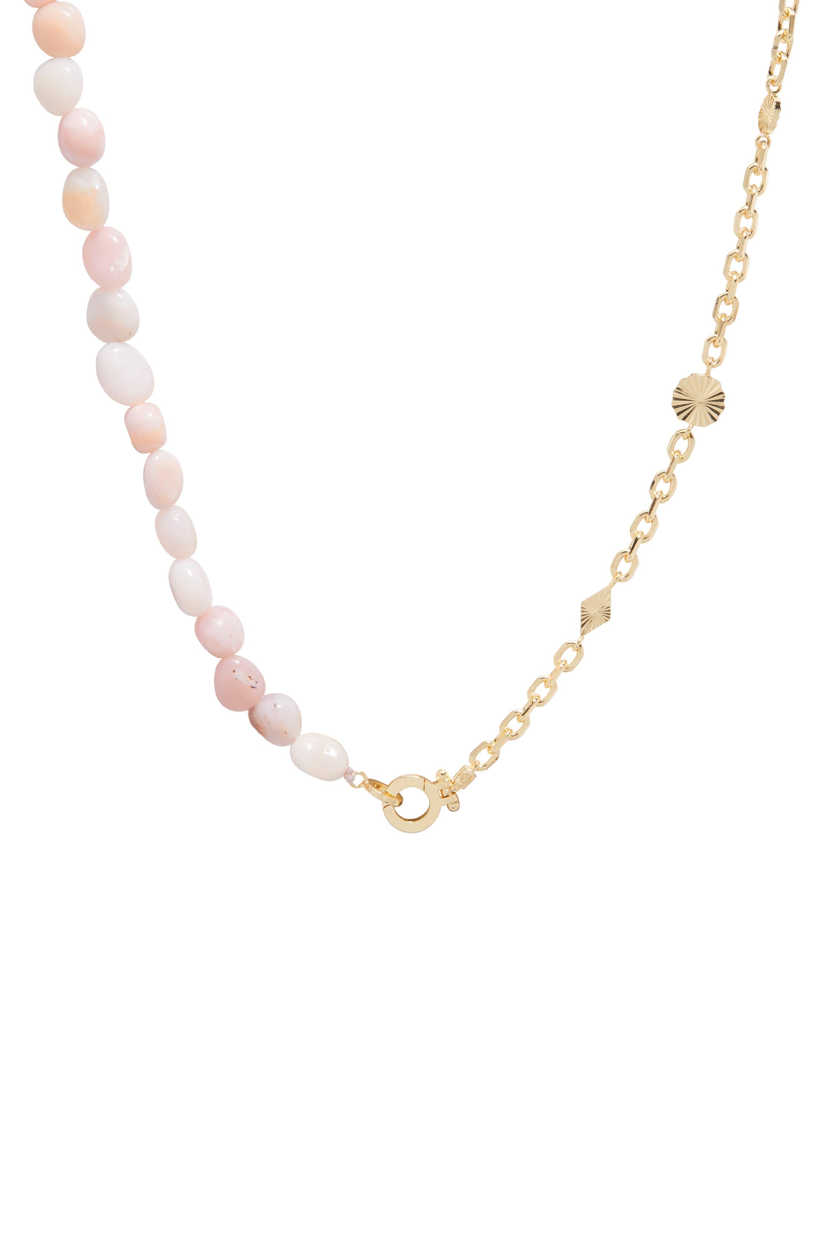 Alice Gem Charm Necklace