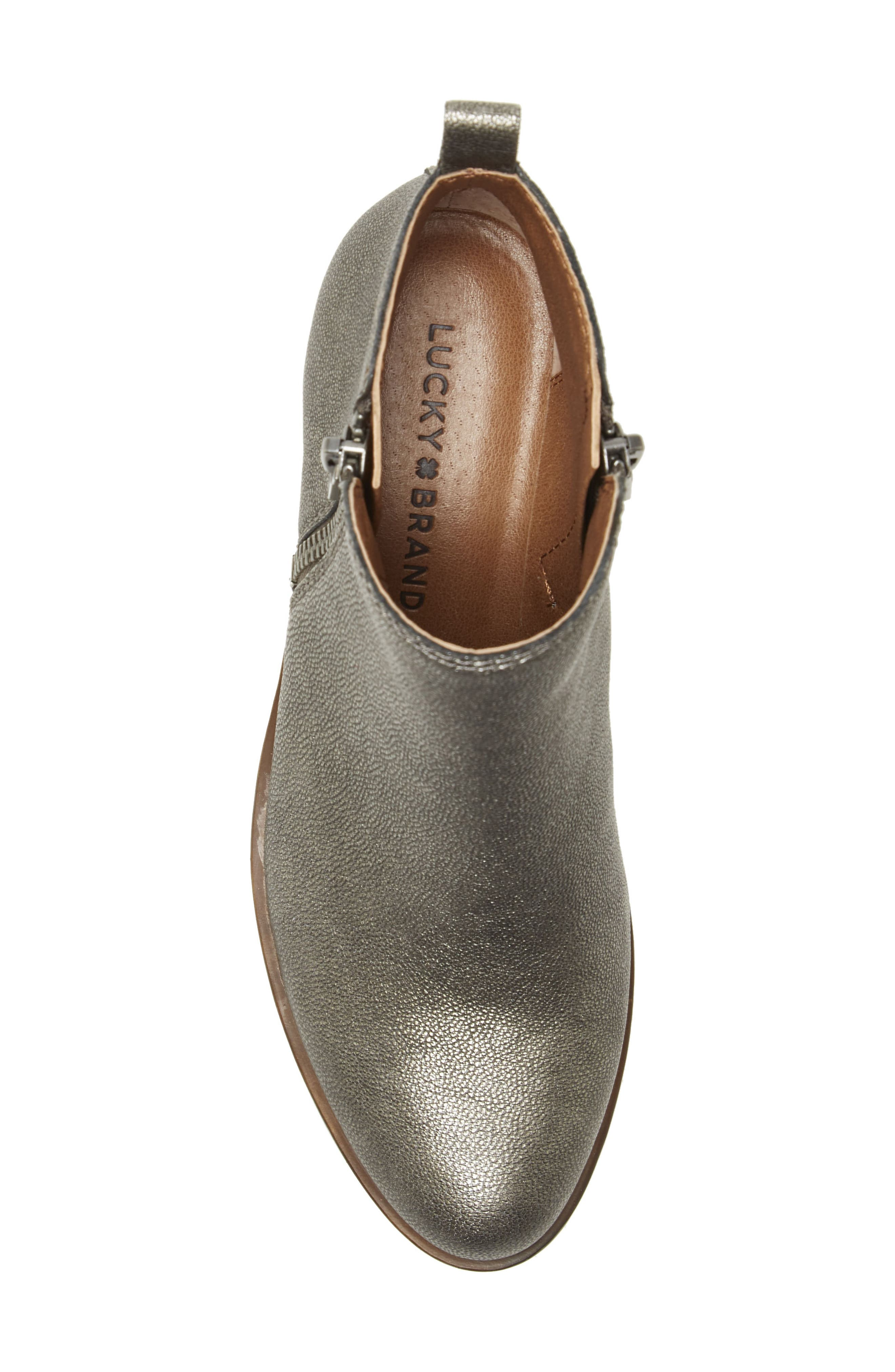 ,                             Basel Bootie,                             Alternate thumbnail 3, color,                             PEWTER SUEDE