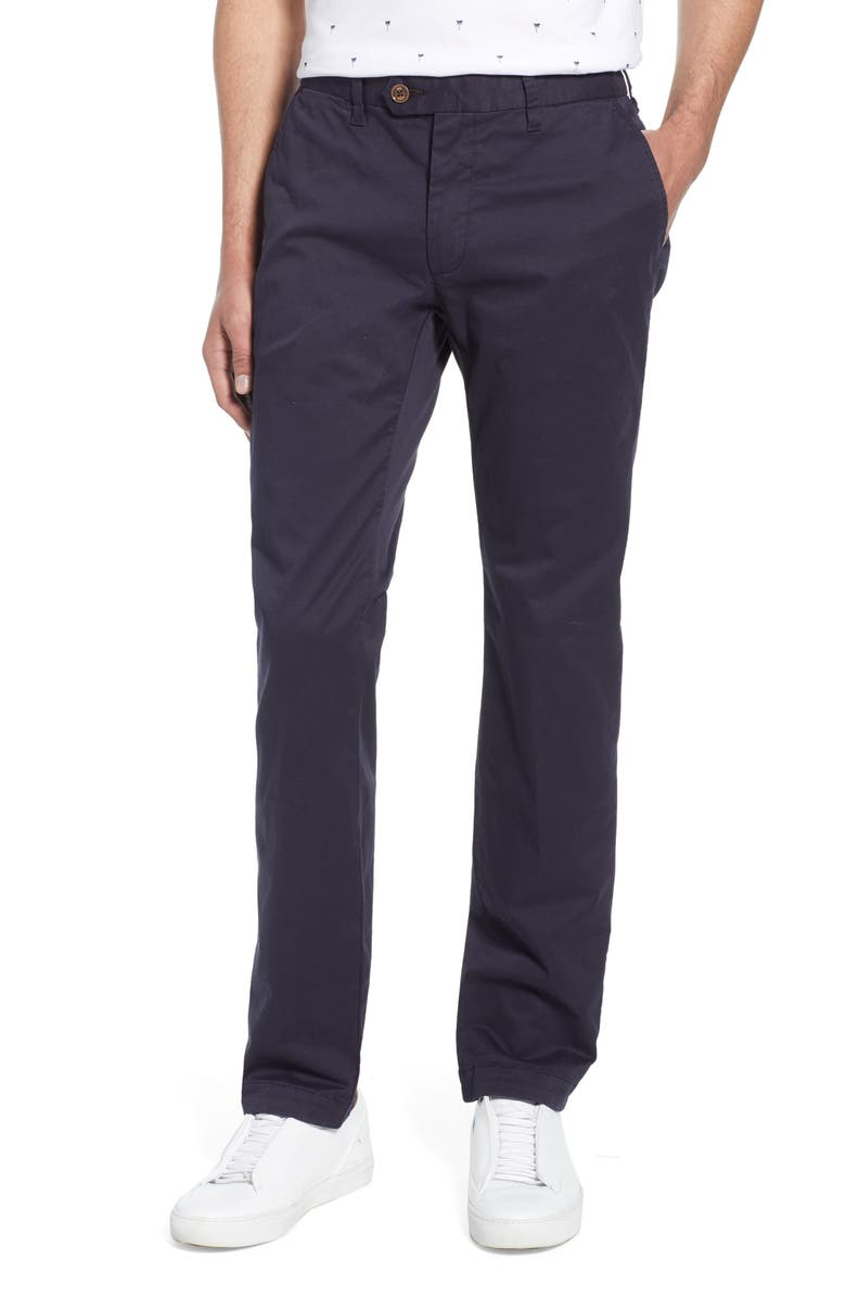 TED BAKER LONDON Seenchi Slim Fit Chinos, Main, color, NAVY