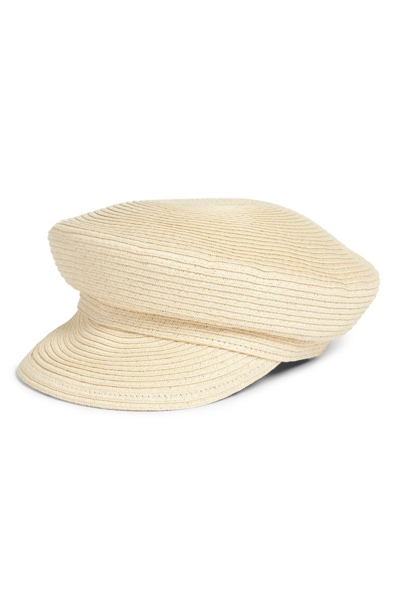 LEITH Straw Baker Boy Hat, Main, color, 250