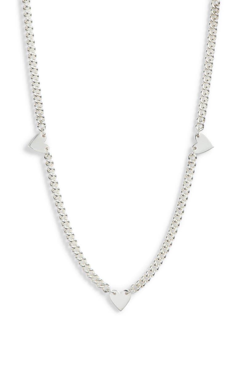 JENNIFER ZEUNER Georgia Curb Chain Necklace, Main, color, STERLING SILVER