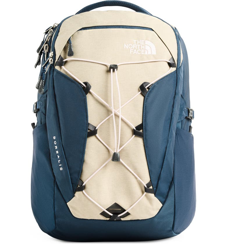 THE NORTH FACE Borealis Backpack, Main, color, BLUE TEAL/ TWILL BEIGE