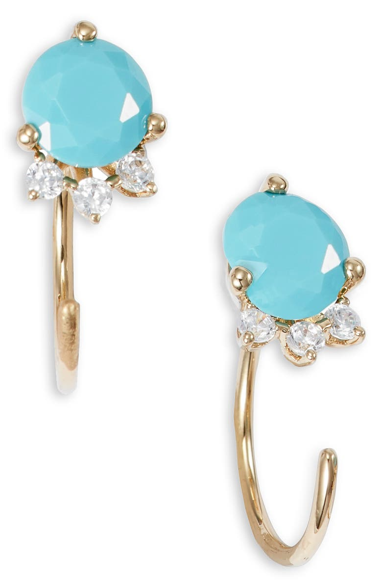 NADRI Gobi Small Stone Drop Earrings, Main, color, GOLD
