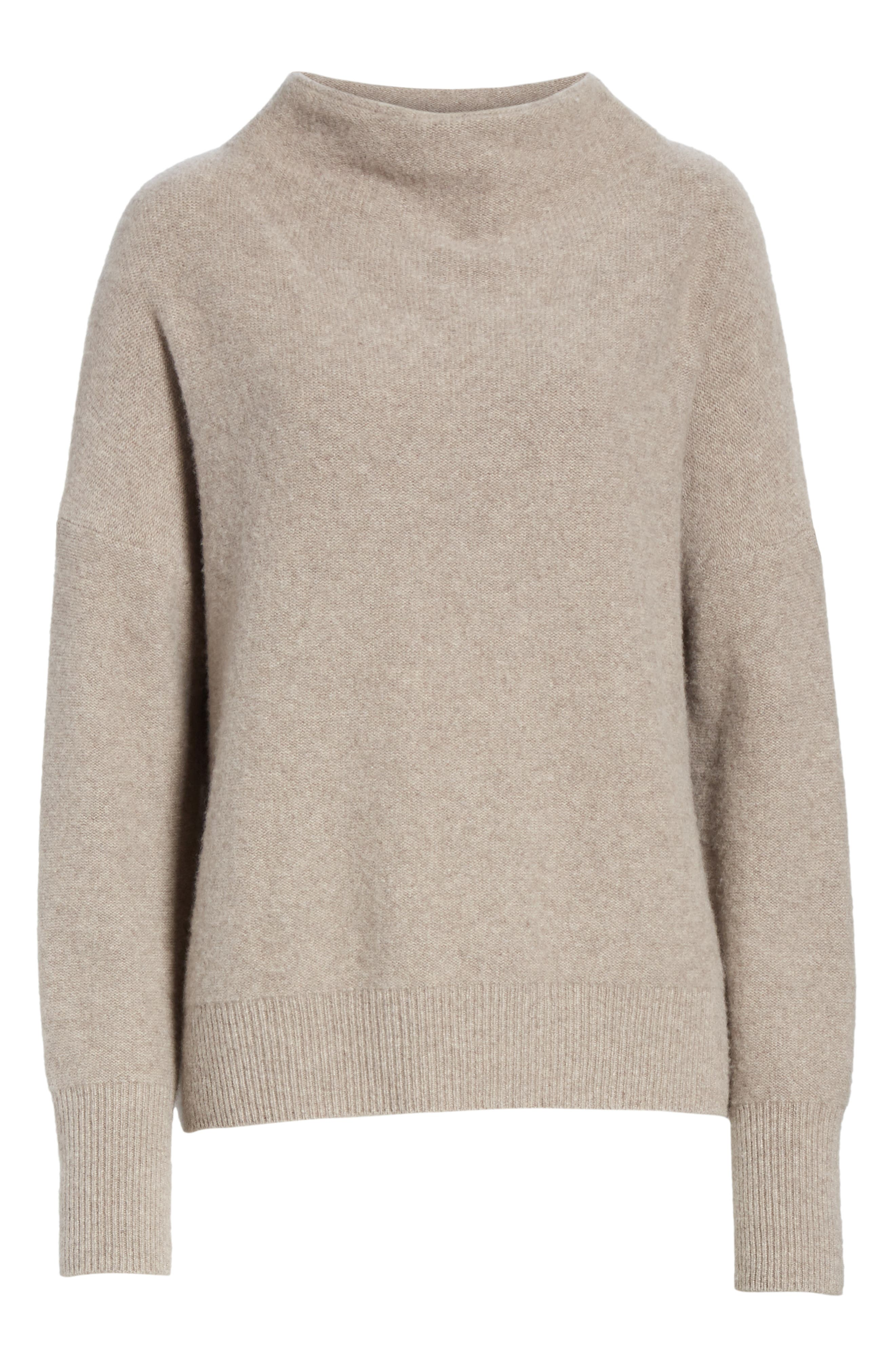 ,                             Funnel Neck Cashmere Sweater,                             Alternate thumbnail 6, color,                             201
