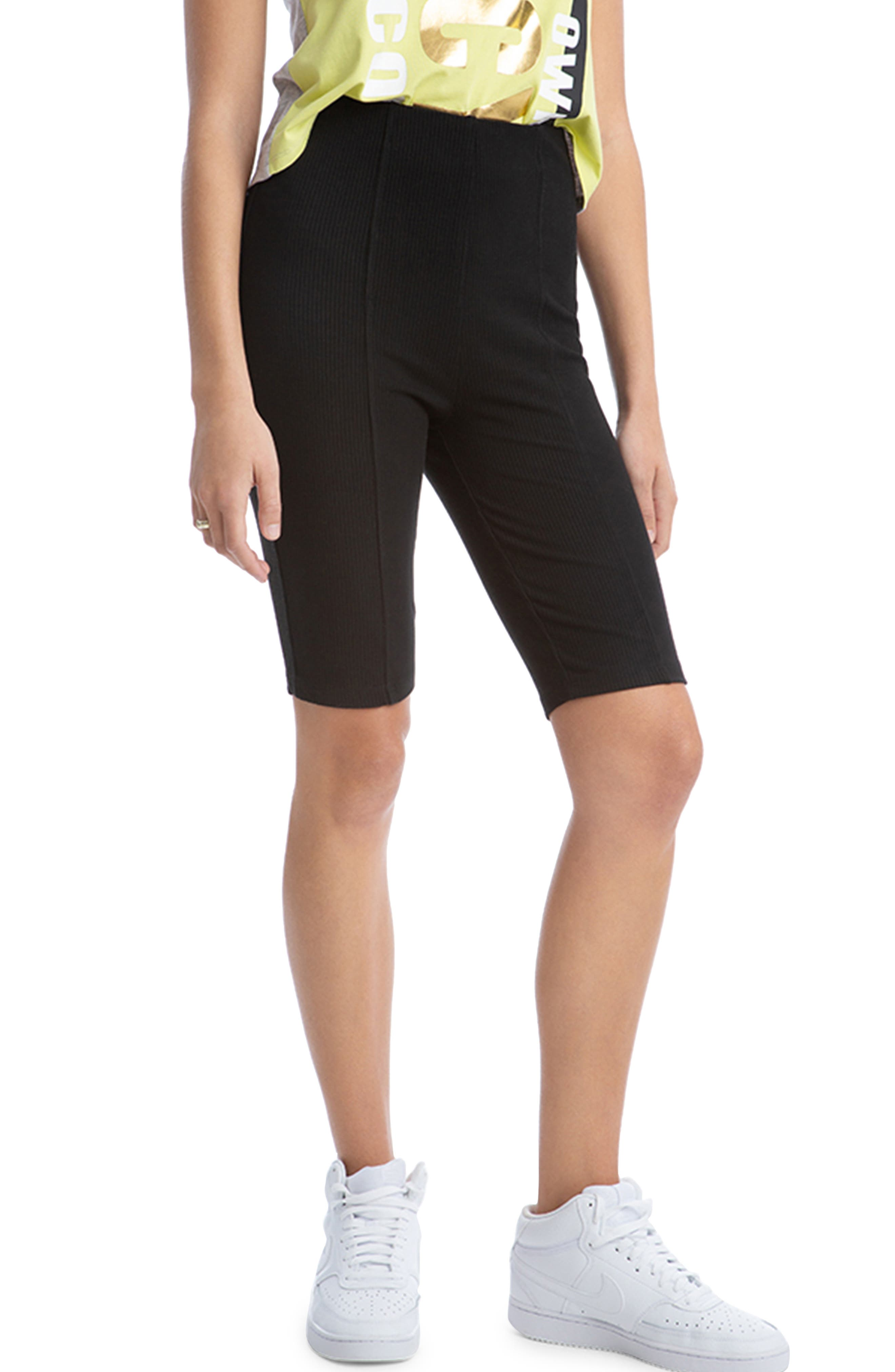 Rib Biker Shorts