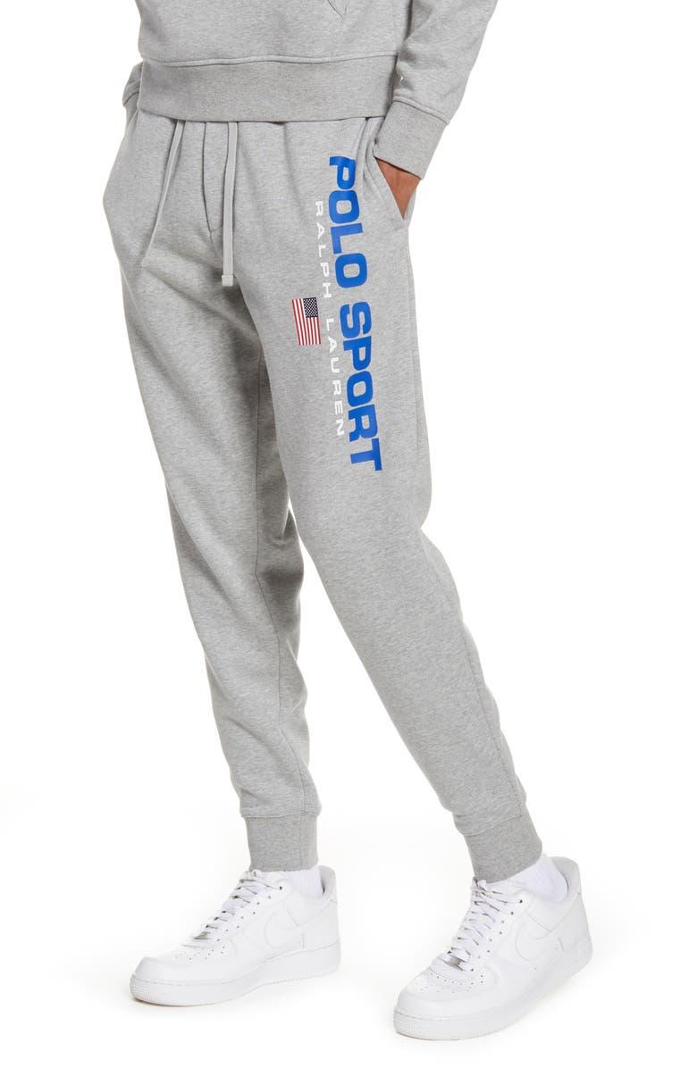 POLO RALPH LAUREN Logo Sweatpants, Main, color, ANDOVER HEATHER