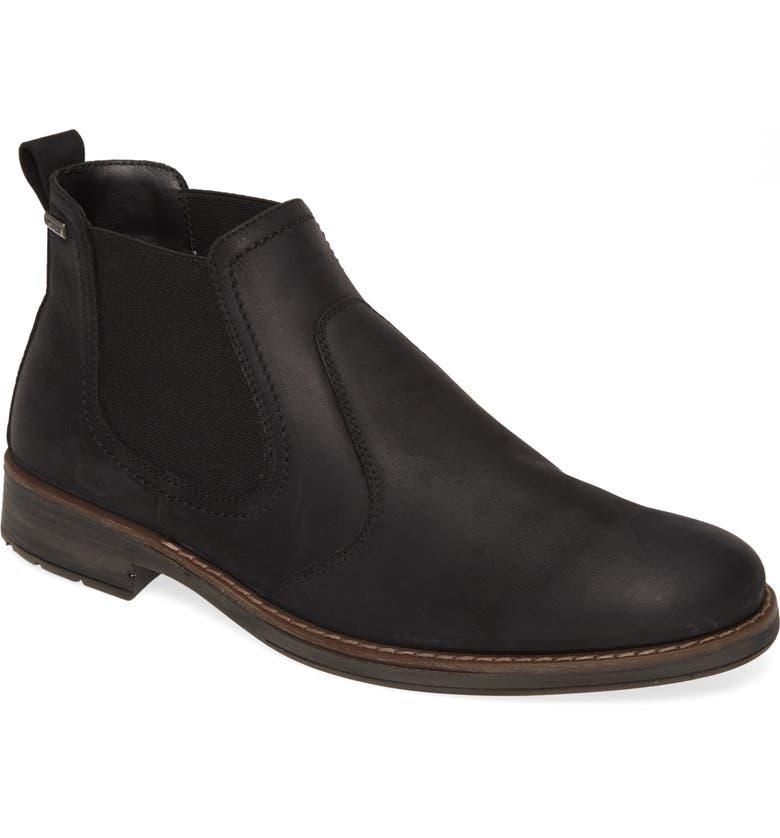NORDSTROM MEN'S SHOP Gavin Waterproof Chelsea Boot, Main, color, BLACK LEATHER