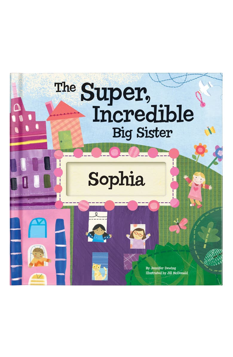 I SEE ME! 'The Super, Incredible Big Sister' Personalized Hardcover Book & Medal, Main, color, PINK