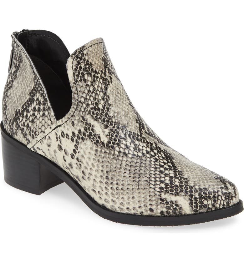 BLONDO Eliza Waterproof Bootie, Main, color, NATURAL SNAKE LEATHER