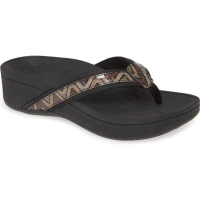 Vionic High Tide Wedge Flip Flop, Black
