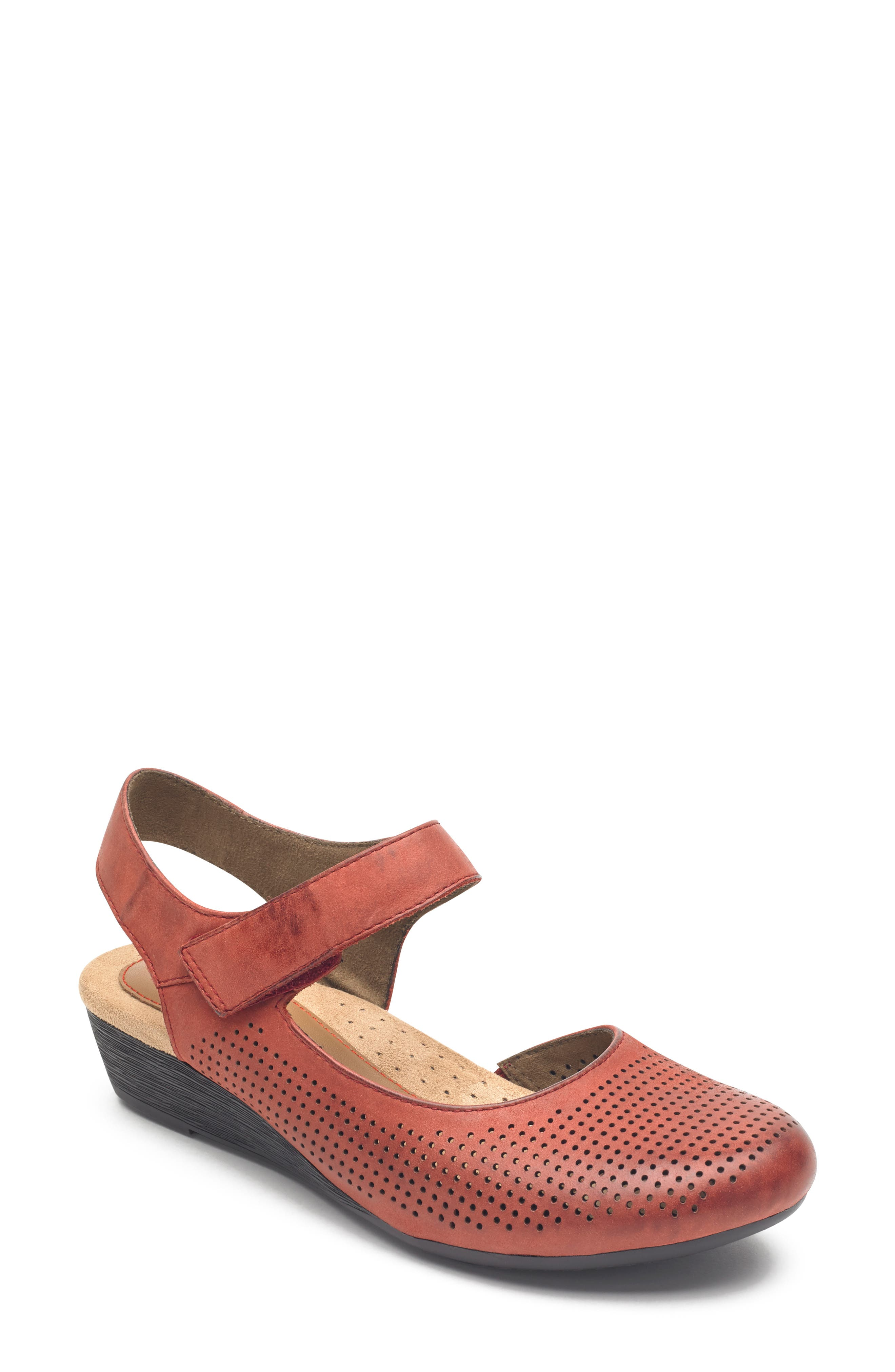 Rockport Cobb Hill Judson Mary Jane, Red