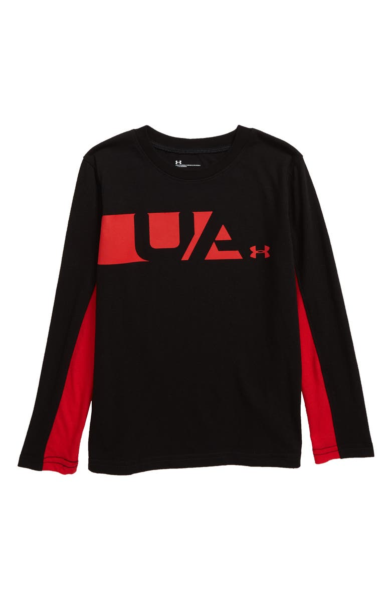 UNDER ARMOUR Equipped HeatGear<sup>®</sup> T-Shirt, Main, color, BLACK