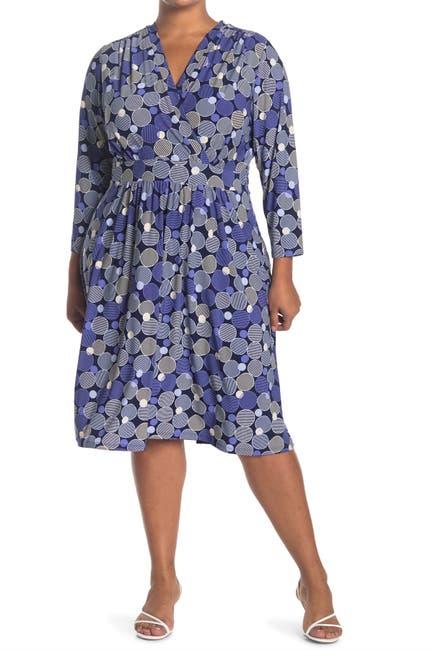 Image of Anne Klein Malibu Bluffs V-Neck Dress