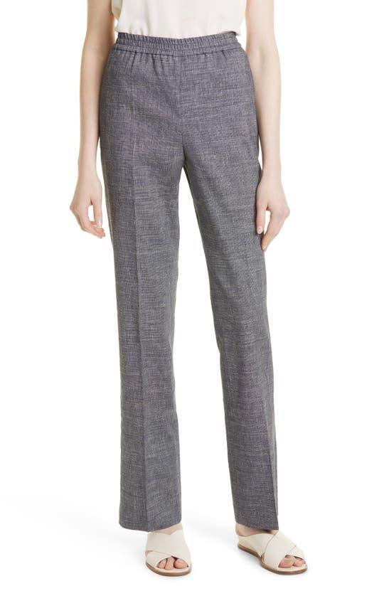 Theory Straight pants STRAIGHT LEG PULL-ON LINEN BLEND PANTS