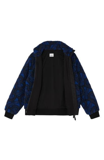 Burberry LAMBETH TB MONOGRAM LOGO FLEECE JACKET