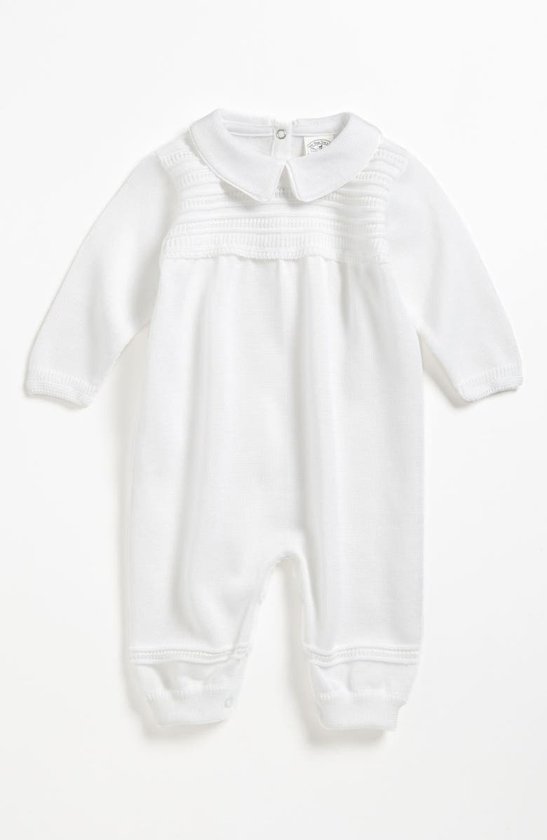 LITTLE THINGS MEAN A LOT Knit Romper, Main, color, WHITE