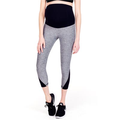 Ingrid & Isabel Active Maternity Capris, Grey