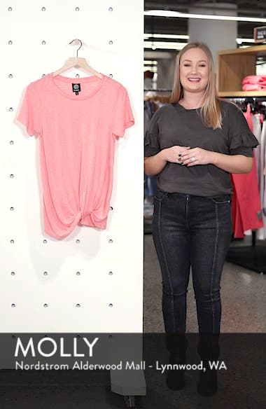 Jessica Twist Hem Slub Tee, sales video thumbnail