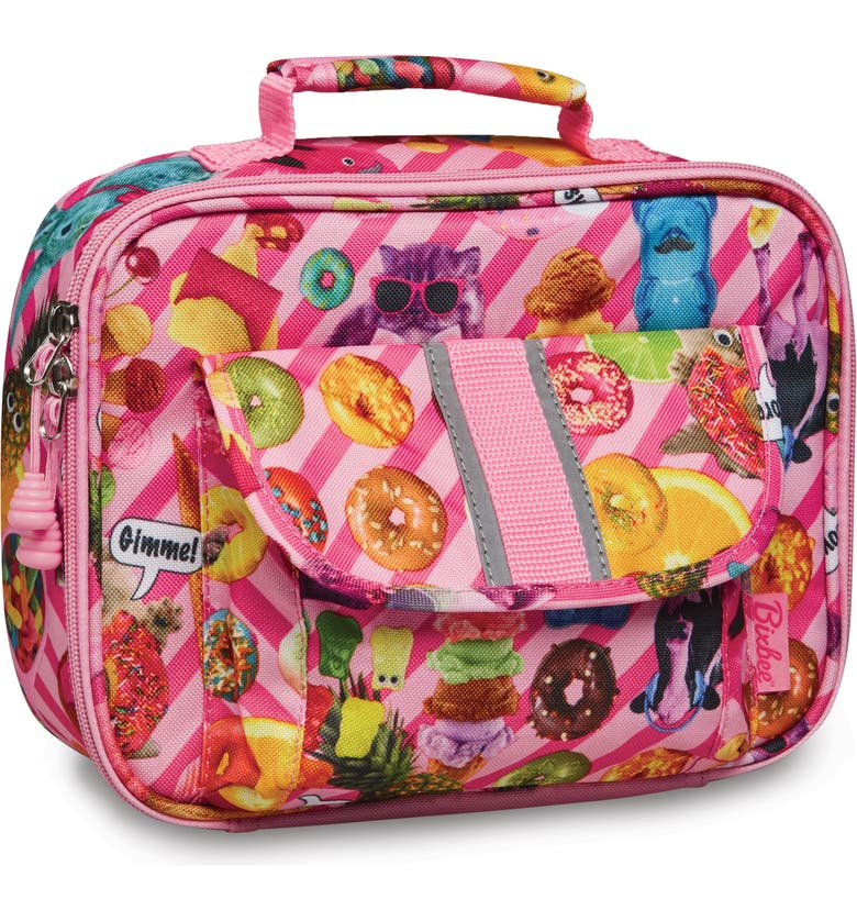 BIXBEE Funtastical Water Resistant Lunch Box, Main, color, PINK