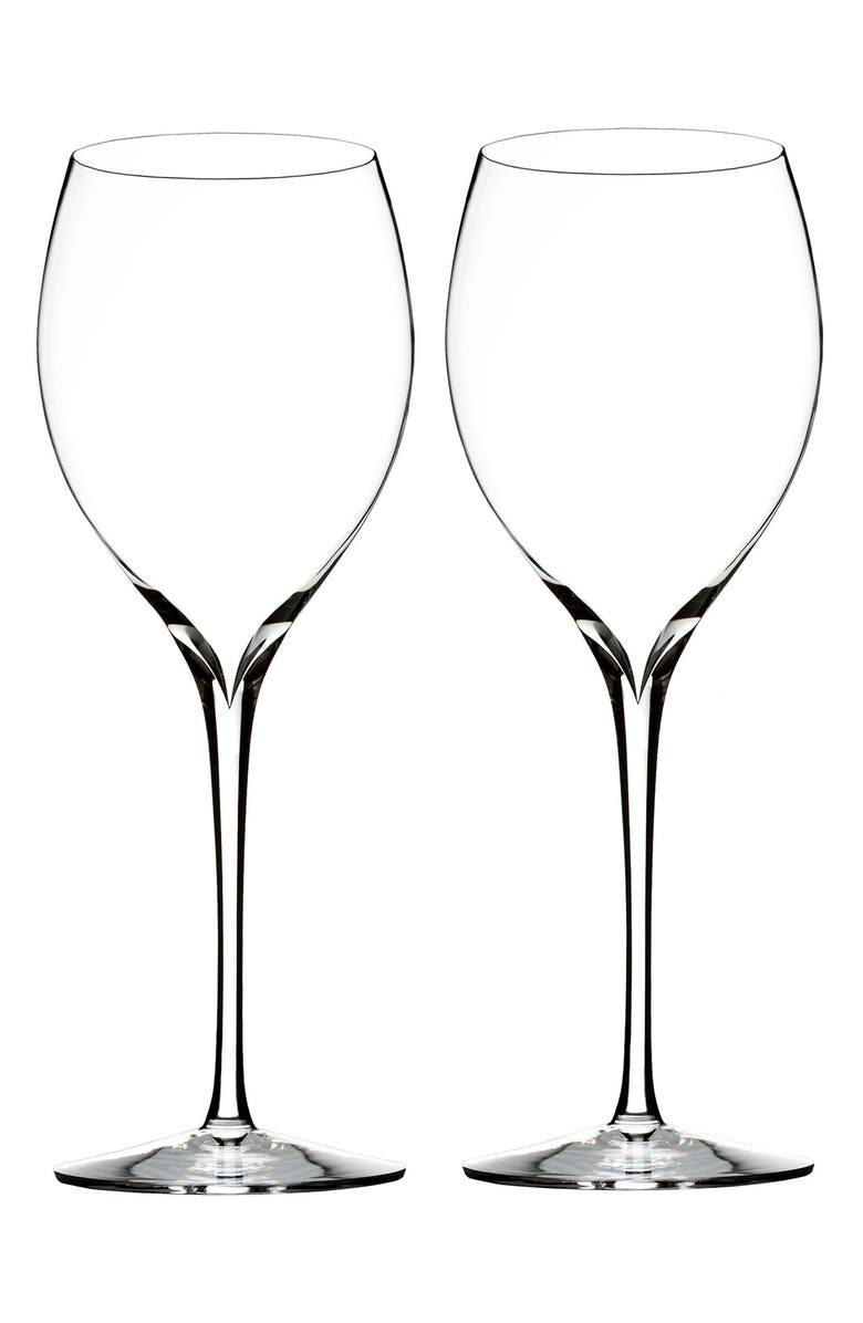 WATERFORD Elegance Set of 2 Fine Crystal Chardonnay Glasses, Main, color, CLEAR