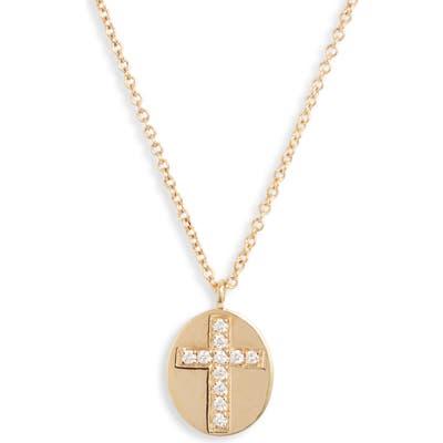 Bony Levy Icons Diamond Cross Medallion Pendant Necklace (Nordstrom Exclusive)