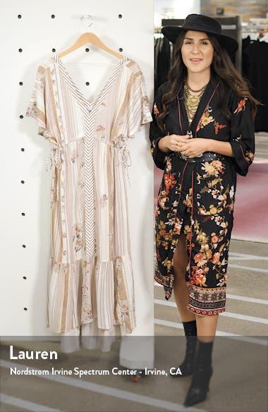 Angie Floral Stripe Midi Dress, sales video thumbnail