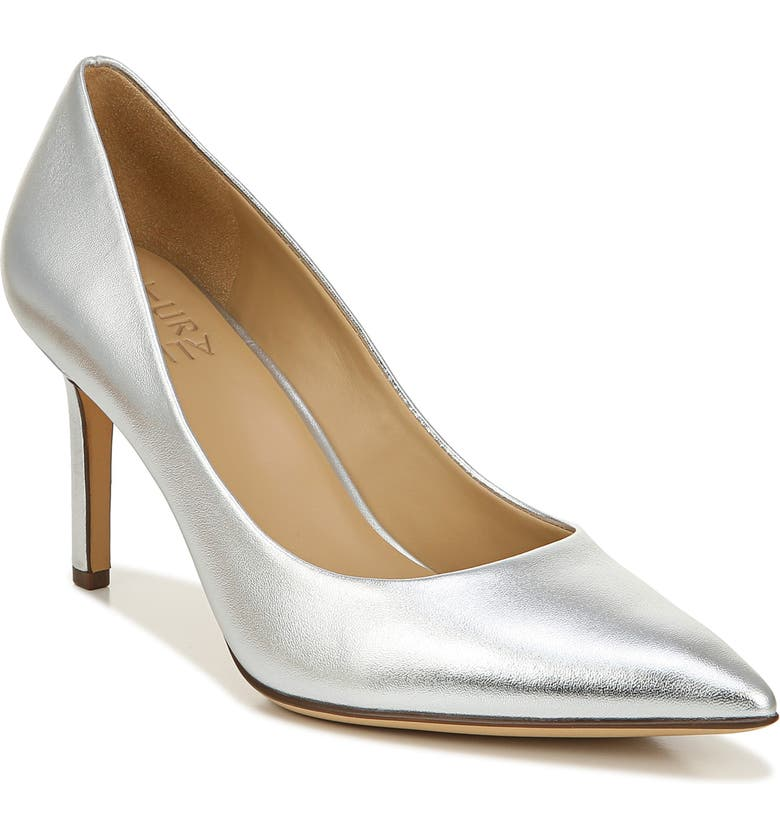 NATURALIZER Anna Pump, Main, color, SILVER METALLIC LEATHER