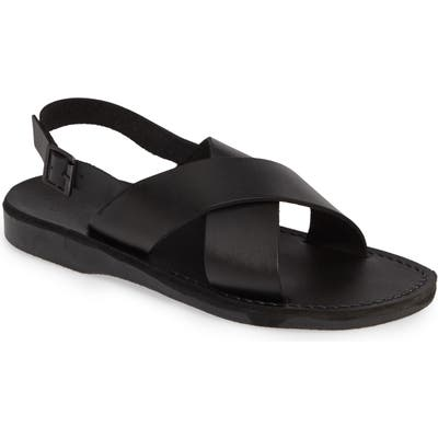 Jerusalem Sandals Elan Sandal,10.5 - Black