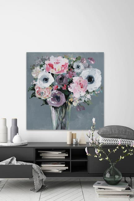 """Image of Marmont Hill Inc. Classic Flower Arrangement Painting Print on Wrapped Canvas - 40"""" x 40"""""""