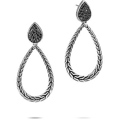 John Hardy Classic Chain Sterling Silver Drop Earrings