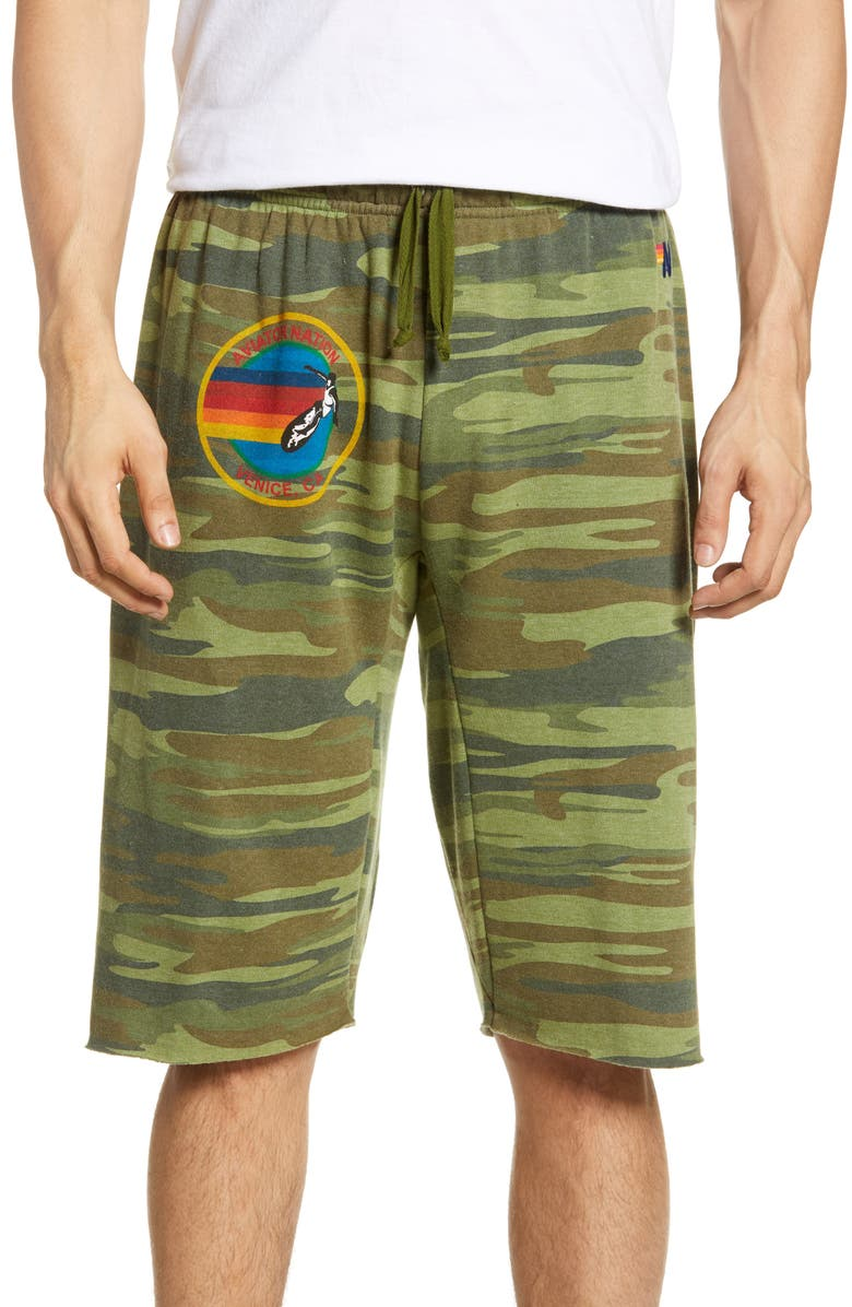 AVIATOR NATION Athletic Shorts, Main, color, CAMO