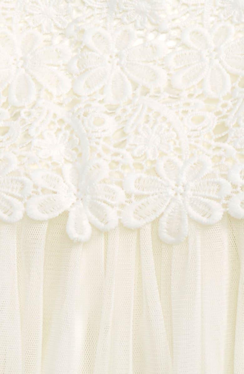 POPATU Lace & Tulle Dress, Main, color, WHITE