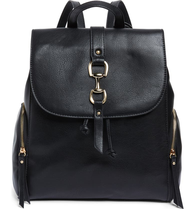 SOLE SOCIETY Marah Faux Leather Backpack, Main, color, 001