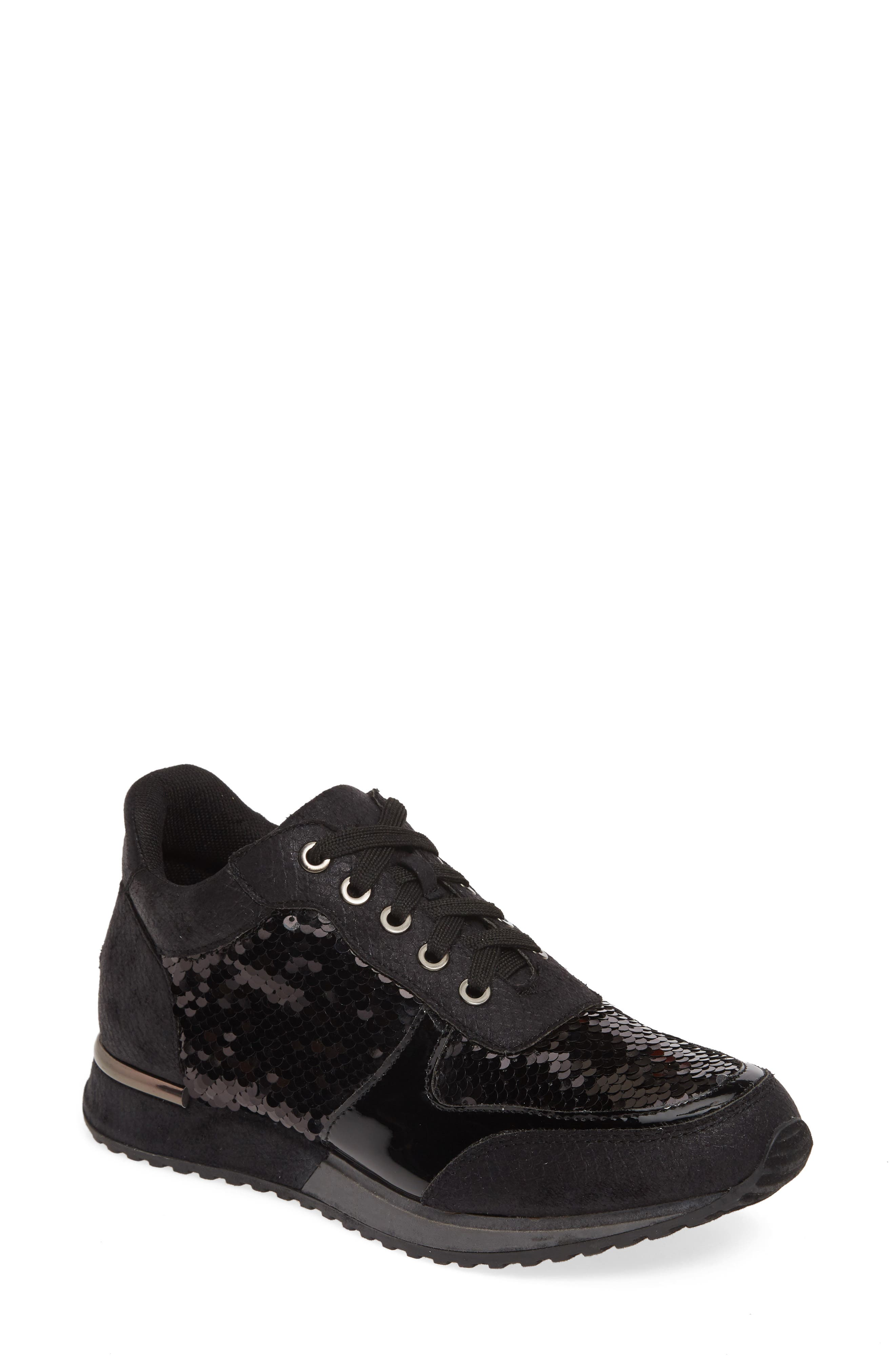 Lauren Lorraine Axel Embellished Sneaker, Black