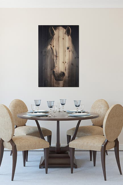 """Image of Gallery 57 Horse on Black Background Wooden Wall Art - 24"""" x 36"""""""