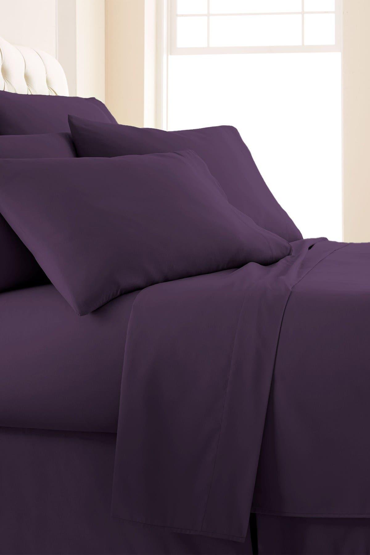 Image of SOUTHSHORE FINE LINENS California King Sized Vilano Springs Extra Deep Pocket Sheet Set - Purple