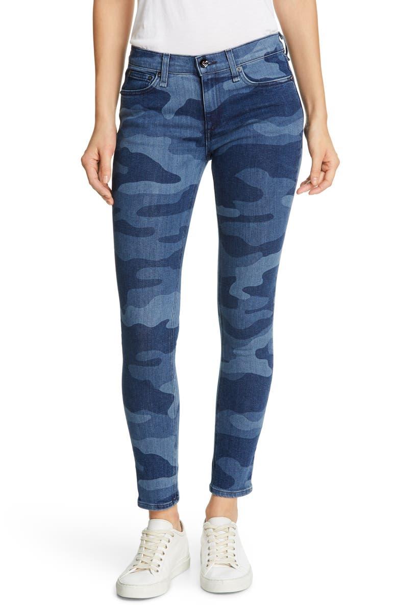 RAG & BONE Ankle Skinny Jeans, Main, color, INDIGO CAMO