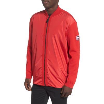 Canada Goose Windbridge Regular Fit Sweater Jacket, Red
